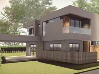 Vivienda Unifamiliar Cruz de Piedra: Casas unifamiliares de estilo  por Be&Sa Arquitectura y Diseño