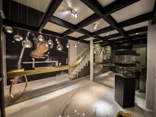 oro_2017 Sala multimediale moderna di Studio di Segni Moderno
