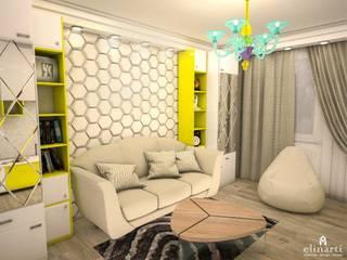 Гостиная: Гостиная в . Автор – Студия дизайна Elinarti
