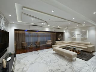 LIVING ROOM:  Living room by Ar. Milind Pai