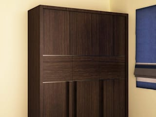 Wardrobe in different style shutter Modern style bedroom by homify Modern
