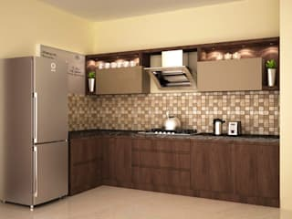 Dual colour style Modern kitchen by homify Modern
