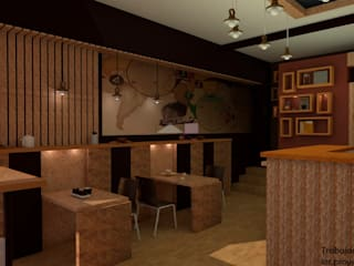 Vista 3d del proyecto:  de estilo  por LAR-Diseño y construcción