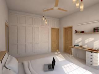 Gupta Residence, Delhi:  Bedroom by Studio Square