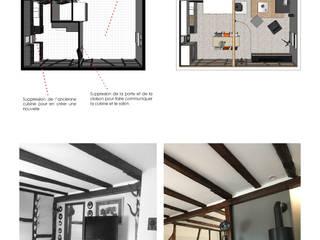 Rénovation d'un duplex: Salon de style  par Java Decorateurs Architecte d'Interieur
