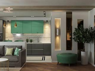 ДизайнМастер Ruang Keluarga Modern Grey