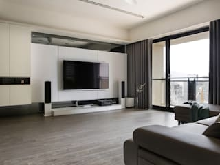 Wohnzimmer von 齊家。空間設計, Minimalistisch