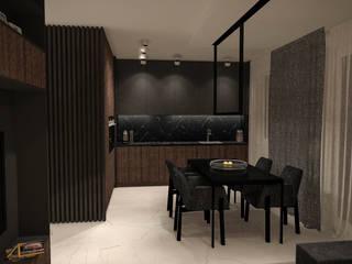 FLAT 4: styl , w kategorii Kuchnia zaprojektowany przez Luxon Modern Design Łukasz Szadujko