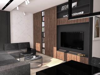 FLAT 4: styl , w kategorii Salon zaprojektowany przez Luxon Modern Design Łukasz Szadujko