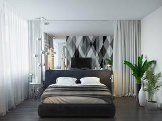 Dormitorios de estilo minimalista de Оксана Мухина Minimalista