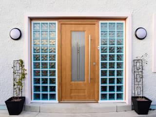 Scarth Craig, Cowie, Stonehaven, Aberdeenshire Roundhouse Architecture Ltd Front doors Wood Brown
