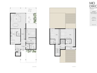 Casa Modular por Evomod - Construções Modulares Moderno