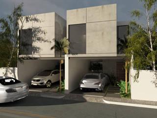 Fachada Loft JBS: Casas unifamiliares de estilo  por Heftye Arquitectura