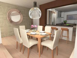 Diseño interior Living comedor: Comedores de estilo  por MM Design