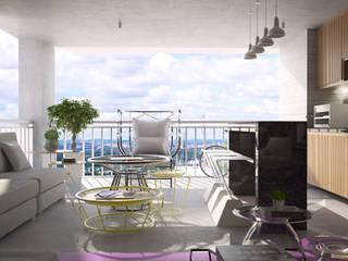 SR HOME - Vila Maria Salas de estar modernas por Semíramis Alice Arquitetura & Design Moderno