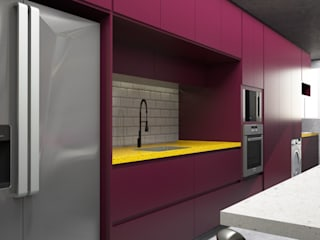 SR HOME - Vila Maria Cozinhas modernas por Semíramis Alice Arquitetura & Design Moderno
