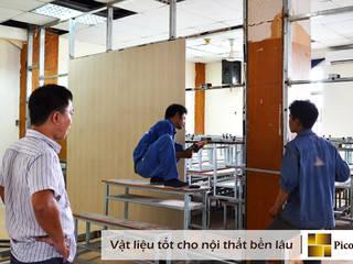 Vách ngăn nhựa, Ốp tường nhựa vân gỗ  - Vật liệu chịu nước tuyệt đối:   by Picomat Sài Gòn