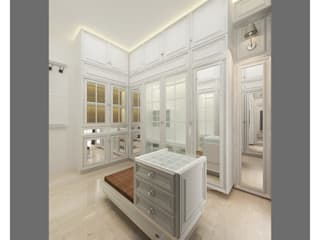 classic white wardrobe:  Kamar Tidur by Lenny indriani design