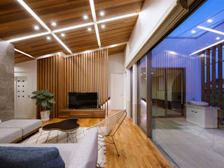 Modern living room by Architect Show Co.,Ltd Modern