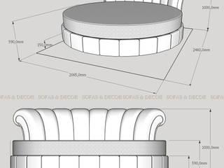 Круглая кровать на заказ:  в . Автор – Sofas&Decor