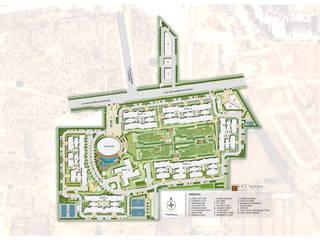 Ireo Sky-On: A Hi-Tech Housing project, Gurgaon, Haryana, India Modern garden by NMP Design Modern