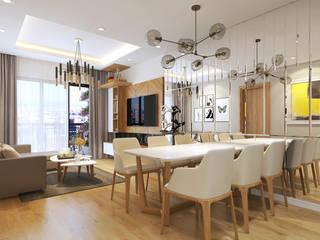 Chung cư Golden Field, Mỹ Đình, Từ Liêm, Hà Nội:  Phòng ăn by Công ty CP Kiến trúc V-Home,