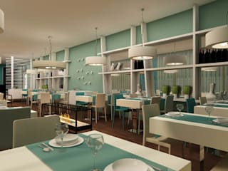 ShiStudio Interior Design Modern dining room Green