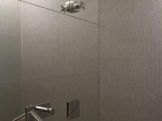 Lavabo Cinza: Banheiros  por Semíramis Alice Arquitetura & Design