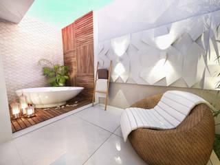 Baños de estilo moderno de Daniela Andrade Arquitetura Moderno
