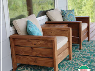 Pequeños Proyectos Living roomSofas & armchairs Wood Wood effect