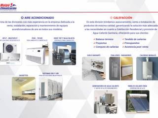 portada: Estudios y oficinas de estilo moderno por Maipú Climatización