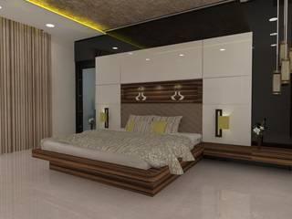 Interior 3D:  Bedroom by Skaav Luxury Interiors