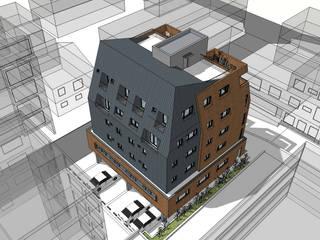 증산동 다세대주택: (주)건축사사무소 예인그룹의  계단