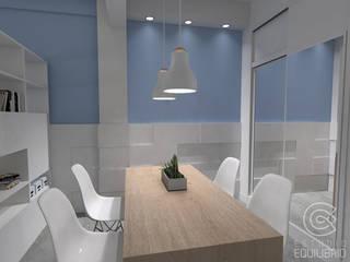 Столовая комната в стиле минимализм от Estudio Equilibrio Минимализм
