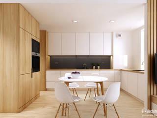 Modern Yemek Odası H+ Architektura Modern