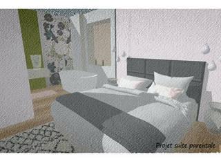 rénovation d'une chambre parentale: Chambre de style  par Elizabeth Guillet Boutique