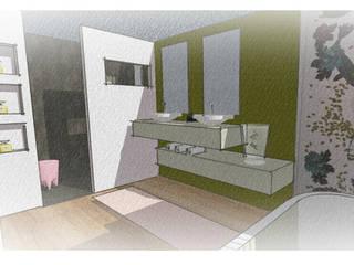 rénovation d'une chambre parentale: Salle de bains de style  par Elizabeth Guillet Boutique