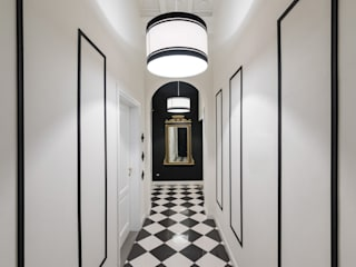 Officine Liquide Classic style corridor, hallway and stairs Ceramic White