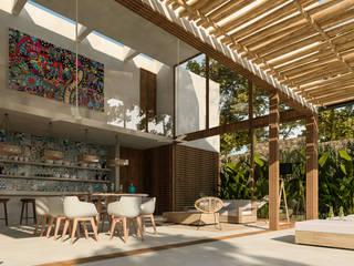 Tropische Wohnzimmer von Obed Clemente Arquitectura Tropisch