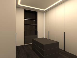 cabina armadio: Camera da letto in stile  di Giemmecontract srl.