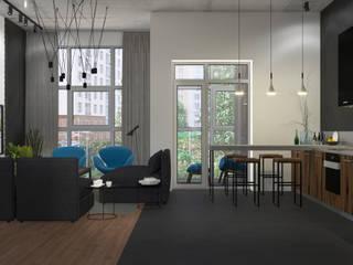 Компактная квартира в ЖК Рассказово: Гостиная в . Автор – 3D GROUP