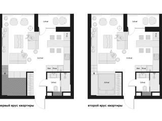 Компактная квартира в ЖК Рассказово:  в . Автор – 3D GROUP