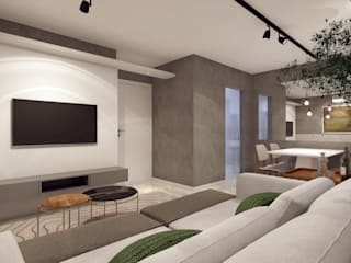 RAFE Arquitetura e Design Living room MDF Grey