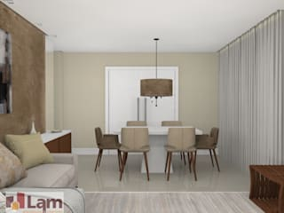 Dining room by LAM Arquitetura   Interiores, Modern