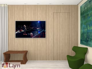 Living room by LAM Arquitetura   Interiores, Modern