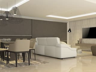 La Llovizna : modern Living room by Spazio Design