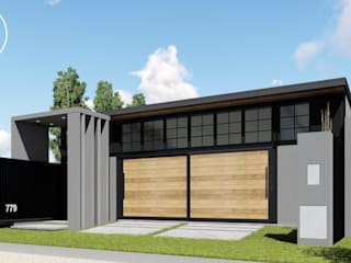 ARBOL Arquitectos Industrial style houses