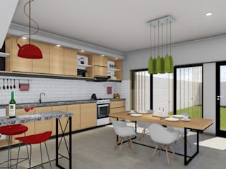 ARBOL Arquitectos Modern dining room