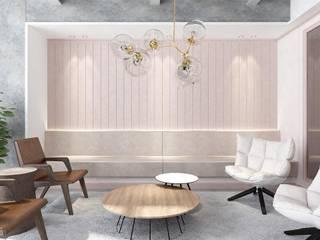 Taoyuan Mood Clinic:  客廳 by 質覺制作設計有限公司