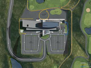 양산 골프클럽하우스: (주)건축사사무소 예인그룹의  계단